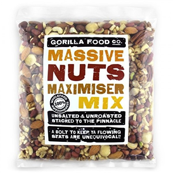 2Lbs Premium Mixed Nuts Whole Raw Unsalted w/ Macadamias, NO PE...