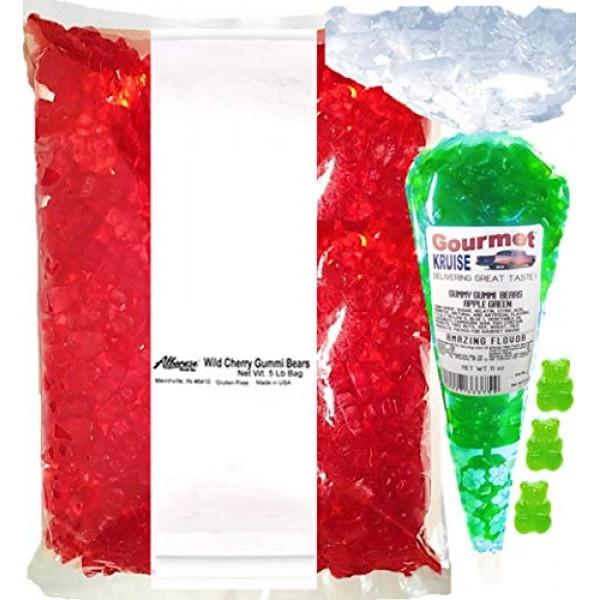 Red Gummy Gummi Bears Wild Cherry Albanese - Bulk Candy 5lb Bag ...