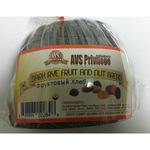 European Fruit & Nut Dark Rye Bread Pack of 4