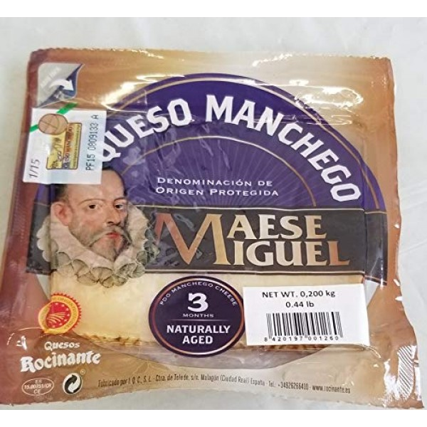 Maese Miguel Queso Manchego aged 3 months .44lbs