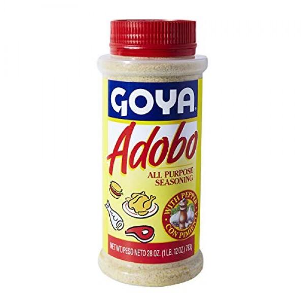 Goya Adobo with Pepper All Purpose Seasoning, 28.0 OZ Pack of 2