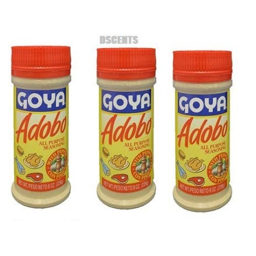Goya Adobo All Purpose Seasoning, 8 Ounces Pack of 3