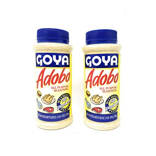 Goya Adobo All Purpose Seasoning without Pepper 28oz, 2 Pack