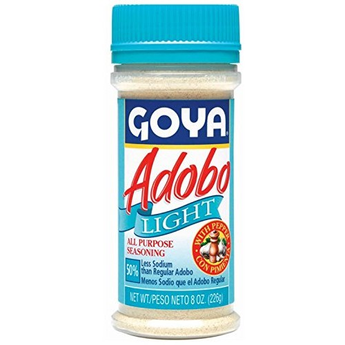 Goya Adobo Light with Pepper - 8 oz All Purpose Seasoning 50% Le...