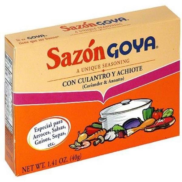 Goya Sazon With Coriander & Annatto, 1.41 oz Sazon con Culantro ...