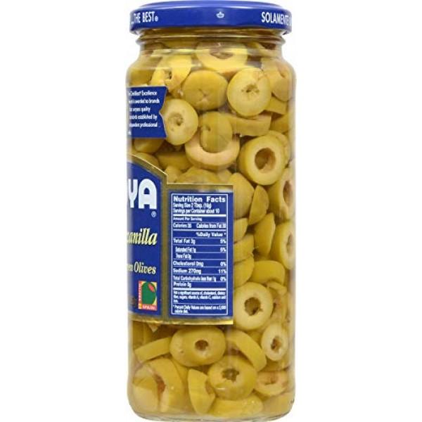 Goya Manzanilla Sliced Green Olives 2 Pack, Total of 11.5oz
