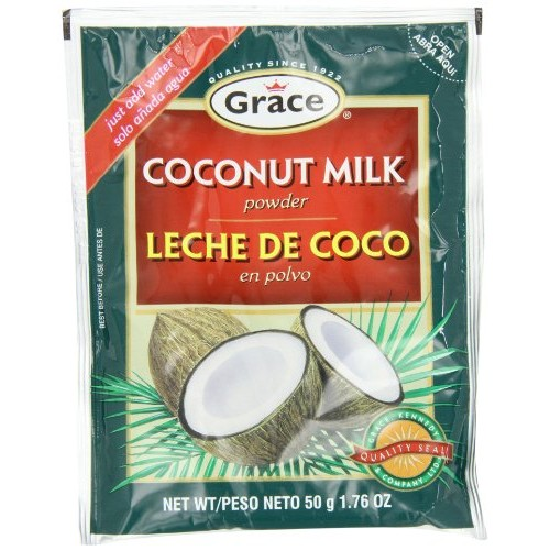 Grace Coconut Milk Powder Envelope, 1.76-Ounce 50g Pack of 12