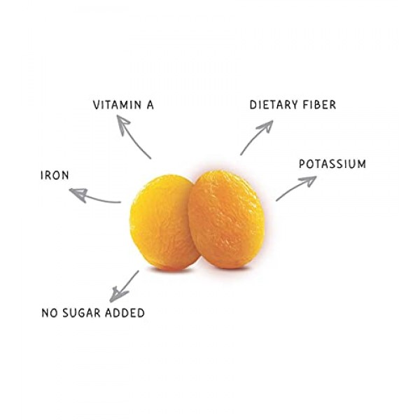 Gramas Dried Turkish Apricots, Vegan, Gluten-Free, Healthy Snack...