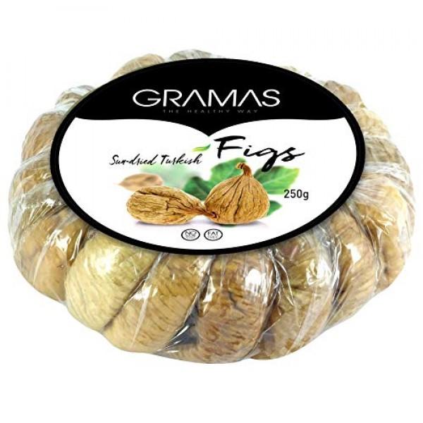 Gramas Natural Sun-Dried Figs in Garland Form, Vegan, Gluten-Fre...