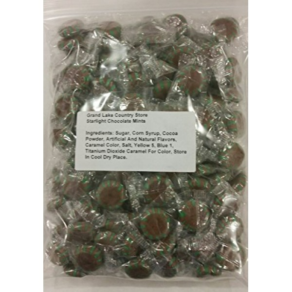 Starlight Chocolate Mints 2 Lbs Bulk Hard Candy Discs Approximat...