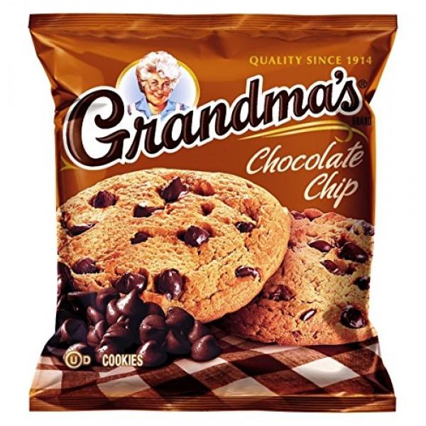 Grandmas Chocolate Chip Cookies, 2.5 Ounce Pack of 60