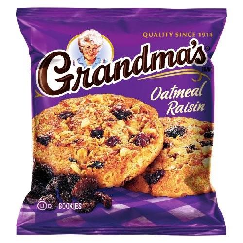 Grandmas Oatmeal Raisin Cookies, 2.5 Ounce Pack of 60