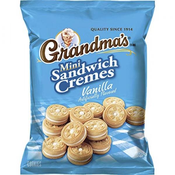 Grandmas Sandwich Cookies, Vanilla Creme Minis, 2.12 Ounce Pac...