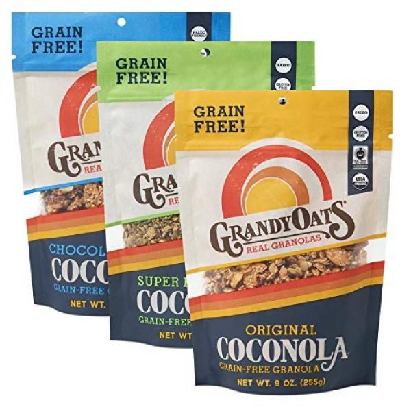 GrandyOats Grain Free Granola   Variety Pack Coconola   Certifie...
