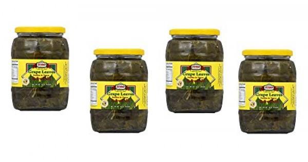 Ziyad Grape Leaves Pack Of 4 Jars 16oz 454g Tender