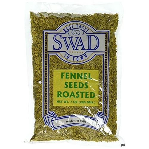 Great Bazaar Swad Roast Fennel Seeds, 7 Ounce