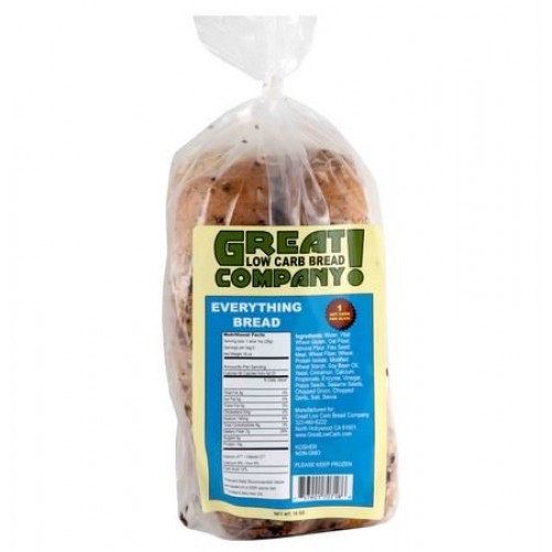 Great Low Carb Bread Co. - Everything - 1 Loaf
