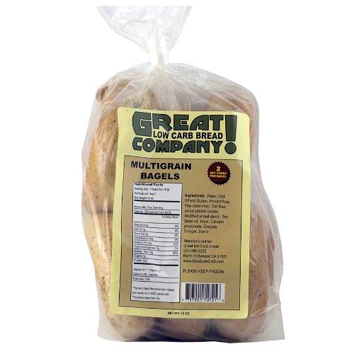 Great Low Carb Bread Co. - Multigrain Bagels - 1 Bag