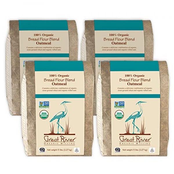 Great River Organic Milling, Bread Flour Blend, Oatmeal Blend, S...