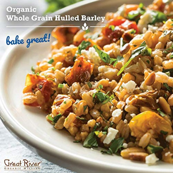 Great River Organic Milling, Whole Grain, Whole Hulled Barley, O...