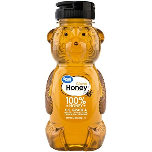 Great Value Clover Honey, 12 oz 2 bottles