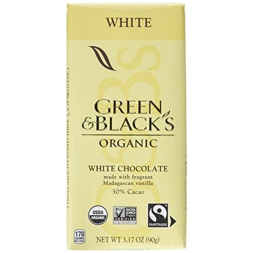Green & Blacks Organic White Chocolate Bars, 30% Cacao, 10 - 3....