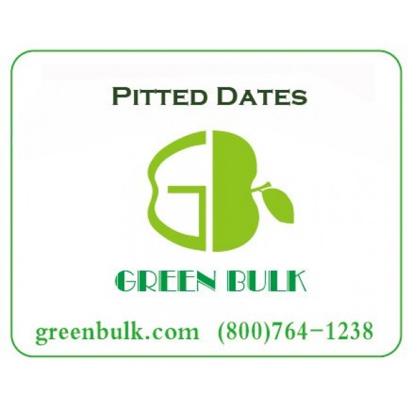Dried Pitted Dates-Whole, from Green Bulk 3 lb