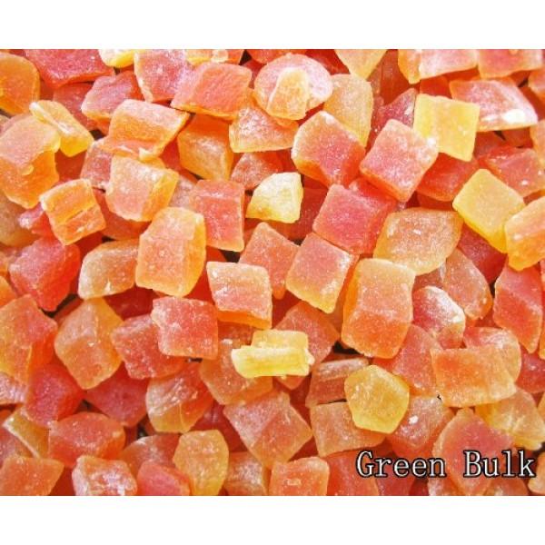 Natural Dried Papaya Dices, Low Sugar, Unsulphured, 2 lb from Gr...