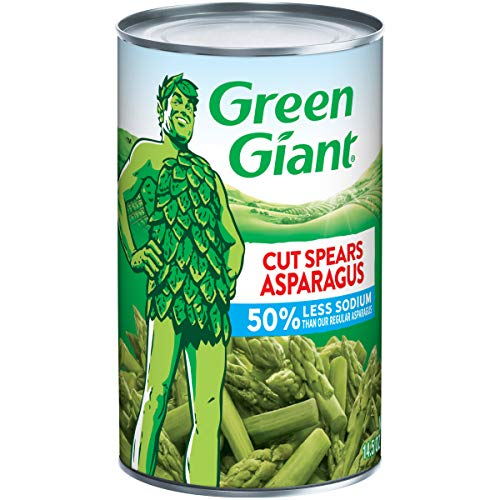 Green Giant 50% Less Sodium Cut Asparagus Spears, 14.5 Ounce Can