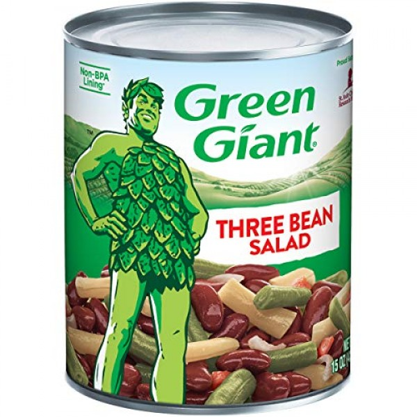Green Giant Three Bean Salad, 15 Ounce Can Pack of 12