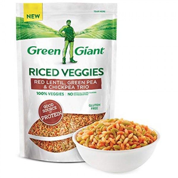 Green Giant Veggie Rice, Red Lentil, Green Pea and Chickpea Trio...