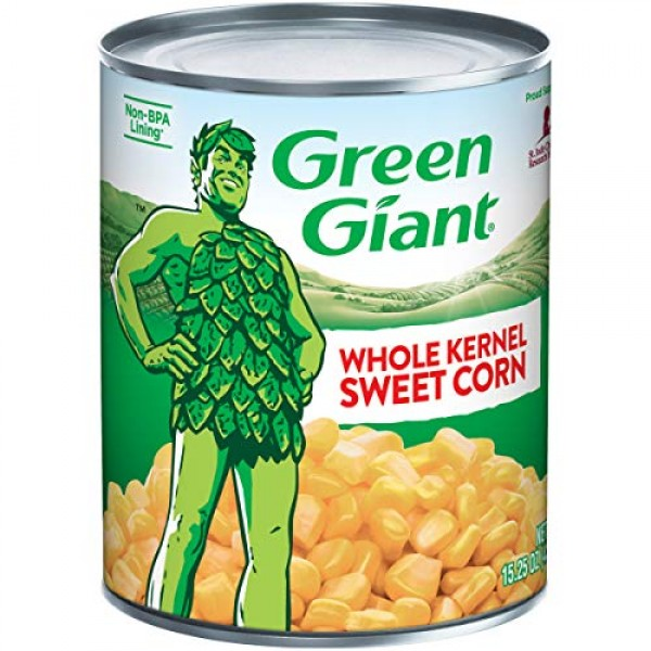 Green Giant Whole Kernel Sweet Corn, 15.25 Ounce Can Pack of 24