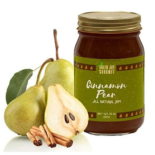 Green Jay Gourmet Cinnamon Pear Jam - All-Natural Fruit Jam with...