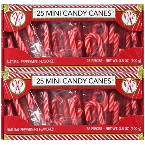 Mini Candy Canes 50 Individually Wrapped 7.0 oz total