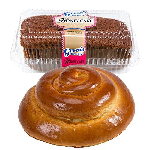 Greens Bakery Traditional Round Challah & Honey Cake Kosher Gif...
