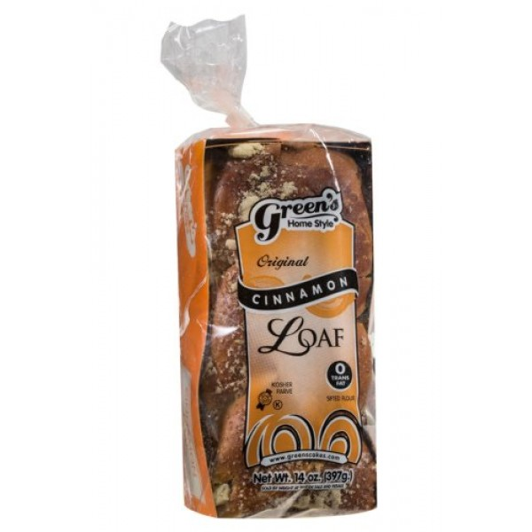 Greens Bakery Kosher Cinnamon Loaf Babka - 14 oz.
