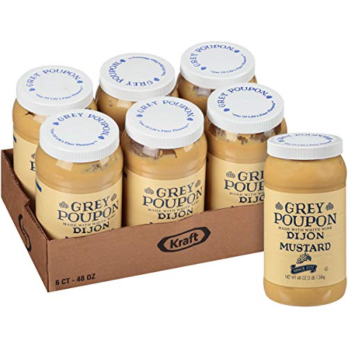 Grey Poupon Dijon Mustard (48oz Jars, Pack of 6)