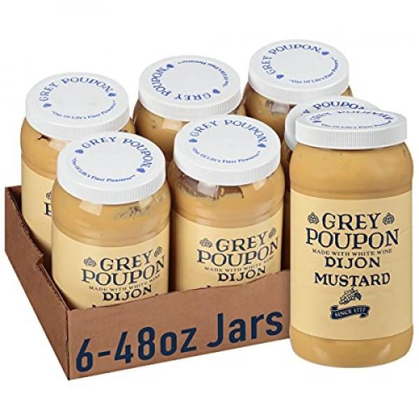 Grey Poupon Dijon Mustard 48oz Jars, Pack of 6