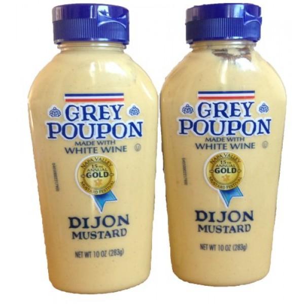Grey Poupon, Dijon Mustard, 10oz Squeeze Bottle Pack of 2