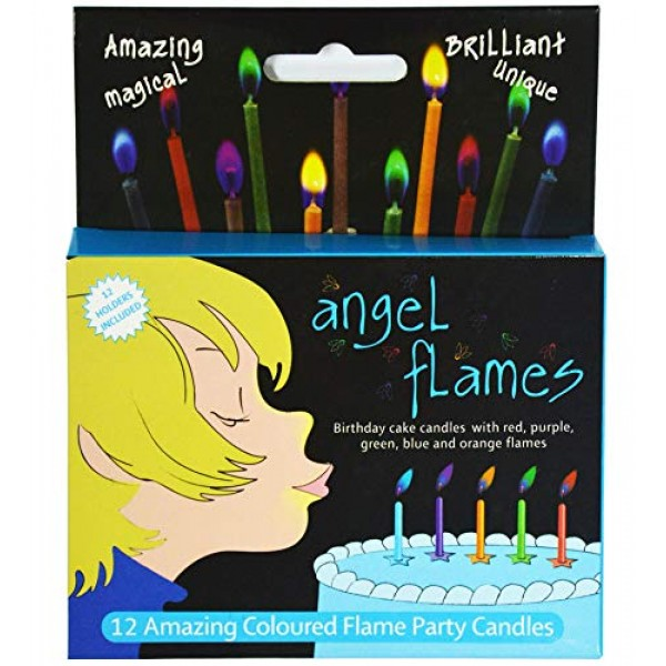Angelflames Birthday Candles with Cold Color Flames for Boys Bl...