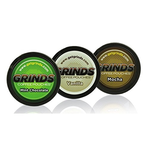 Grinds Coffee Pouches - 3 Can Sampler Pack - Mint Chocolate, Van...
