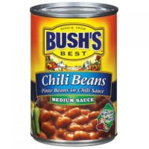 Bushs Best Pinto Beans In Chili Sauce Medium Chili Beans, 16 Ounce