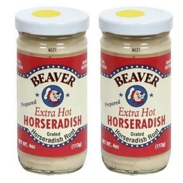 Beaver Horseradish Extra Hot 4oz Pack of 2
