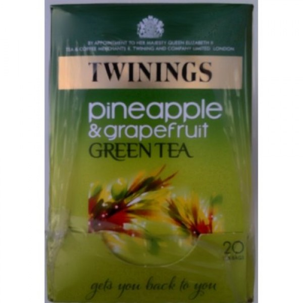 Twinings Pineapple & Grapefruit Green Tea - 4 x 20 Tea Bags