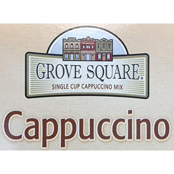 Grove Square Cappuccino Cups, Caramel, Single Serve Cup for Keur...