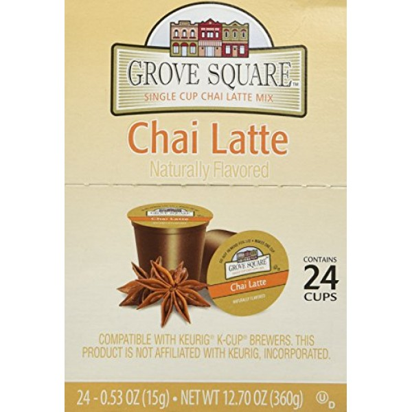 Grove Square Chai Latte, 24-count Single Serve Cup for Keurig K-...