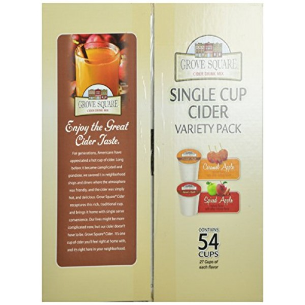 Grove Square Cider Single Serve Cups Variety Pack, 54 Count Pac...