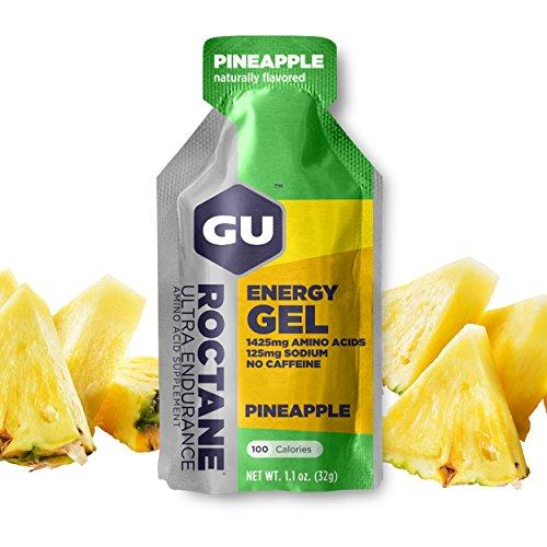 GU Energy Roctane Ultra Endurance Energy Gel, 24-Count, Pineapple