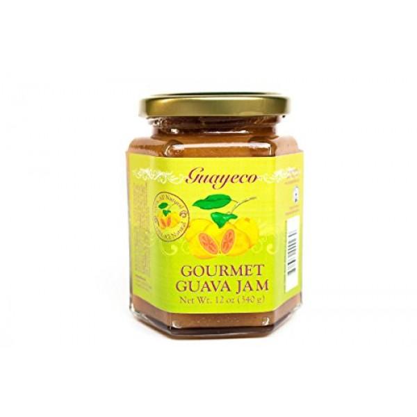 Guava Gourmet Guava Jam 12oz, Jar, Fresh Tropical Guava Fruit ...