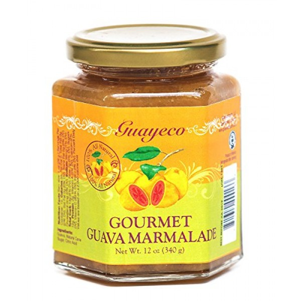 Guava Gourmet Marmalade 12oz, Jar with Tropical Fruit Chunks; ...